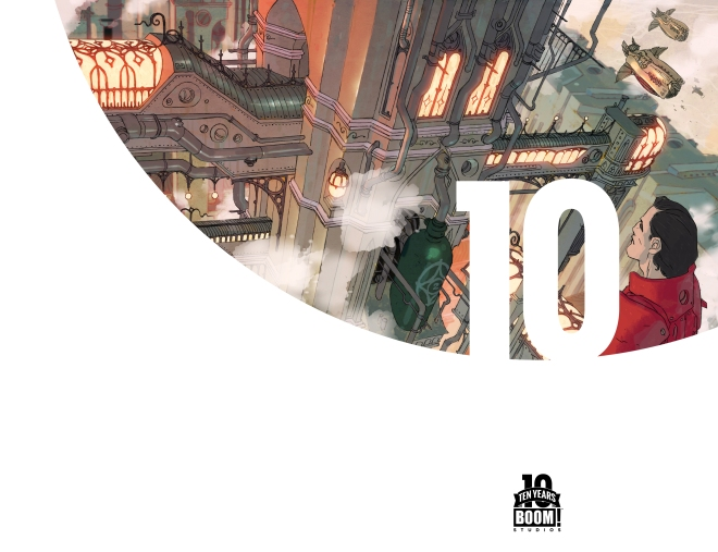 Lantern City #1 10 Years Cover by Ben Caldwell (full wraparound image shown