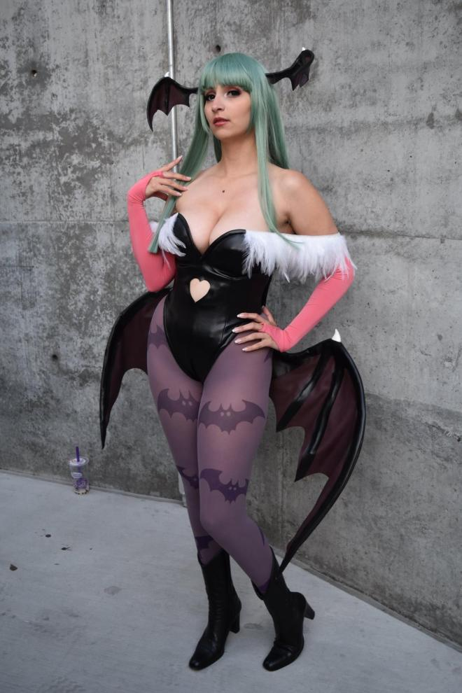 Morrigan cosplayer with the fb page HezaChan. Photo by Josh Cruz.