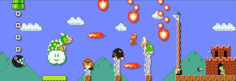 The next evolution of the Super Mario Bros. series, Super Mario Maker, lets people's imaginations run wild. For the first time ever, friends can have fun playing through levels they create for one another. (Photo: Business Wire)