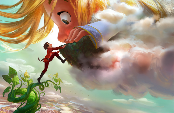 "DOWN TO EARTH — Adventure-seeker Jack discovers a world of giants hidden within the clouds, hatching a grand plan with Inma, a 60-foot-tall, 11-year-old girl. Directed by Nathan Greno (""Tangled"") and produced by Dorothy McKim (""Get A Horse!""), ""Gigantic"" hits U.S. theaters in 2018."