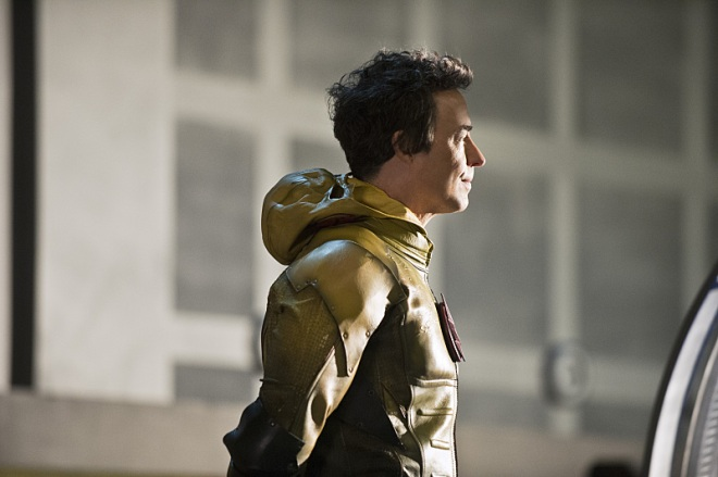 "The Flash -- ""Fast Enough"" -- Image FLA123B_0017b -- Pictured: Tom Cavanagh as Harrison Wells / Reverse Flash -- Photo: Cate Cameron/The CW -- © 2015 The CW Network, LLC. All rights reserved."
